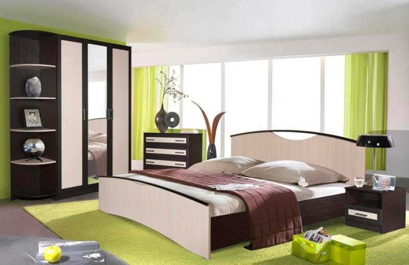 Интерьер спальни венге фото